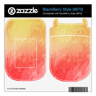 Red Yellow Texture pattern Skin For BlackBerry