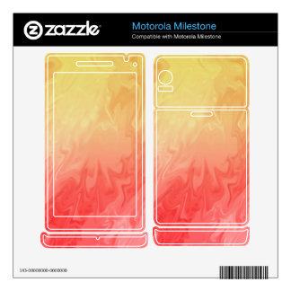Red Yellow Texture pattern Motorola Milestone Decals