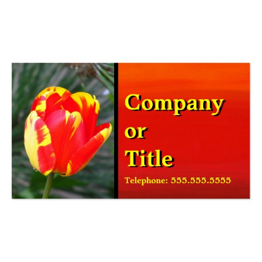 Red Yellow Tulip Business Card
