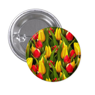 Red Yellow Tulip Flowers Photo Pattern Pin
