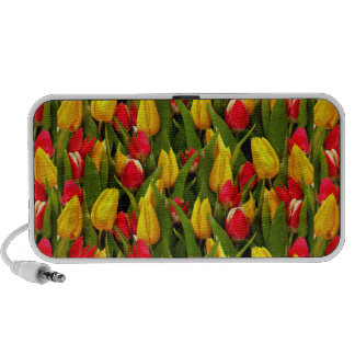 Red Yellow Tulip Flowers Photo Pattern Speaker System