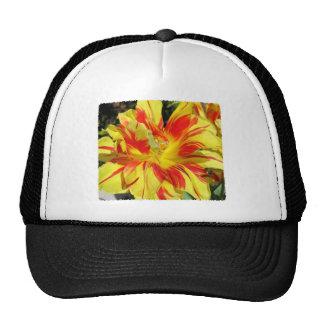 Red-Yellow Tulip Trucker Hat