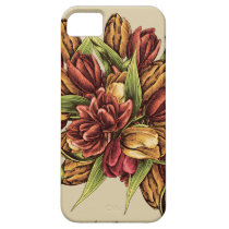 Red yellow Tulips Bouquet Pattern iPhone SE/5/5s Case