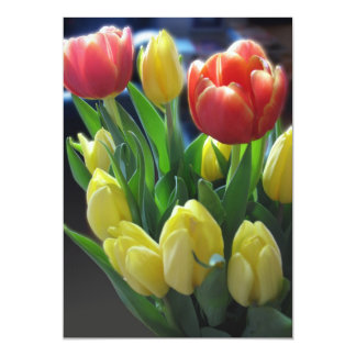 Red & Yellow Tulips Invitation Cards
