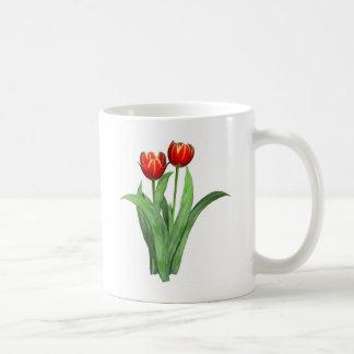 red & yellow tulips coffee mugs