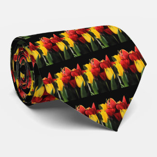 Red Yellow Tulips Neck Tie