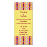 red yellow wedding personalized invites