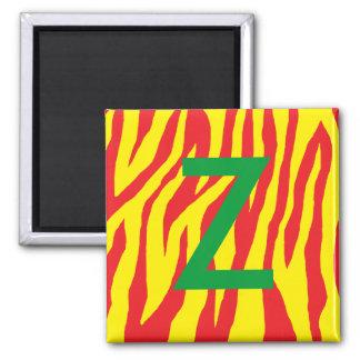 Red & Yellow Zebra Print Magnet