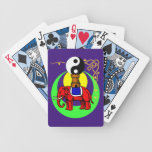 Red Yin-Yang Elephant Bicycle Playing Cards
