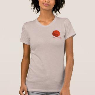 Red Yin Yang Energy Balance Symbol Yoga T Shirt