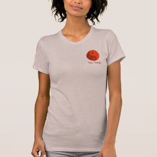Red Yin Yang Energy Balance Symbol Yoga T-Shirt