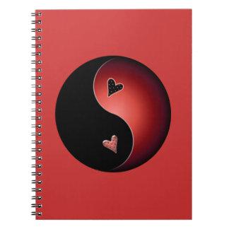 red yin yang notebook