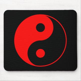 Red Yin Yang Symbol Mousepad