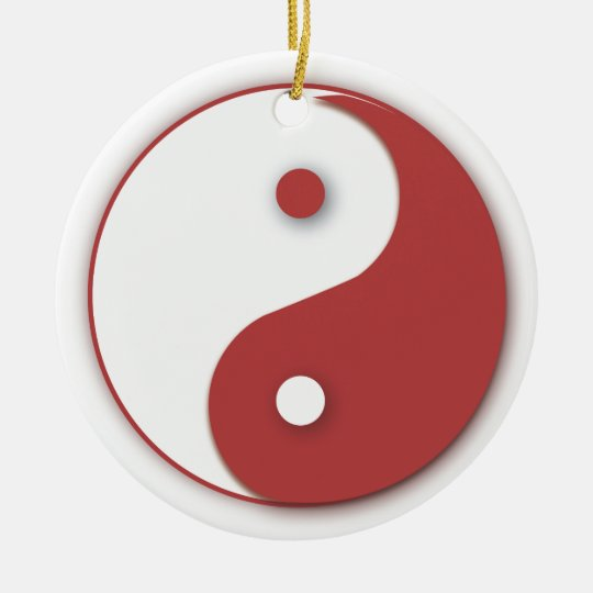 Red Yinyang ornament