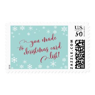 Red You Made the Christmas Card List, Humor Postage