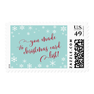 Red You Made the Christmas Card List, Humor Postage