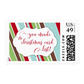 Red You Made the Christmas Card List & Stripes Postage