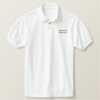 (red) Your Company Name Embroidered Shirt