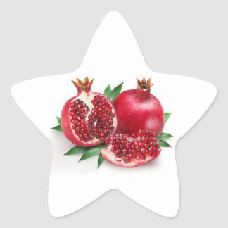 Red Yummy Pomegranates, Star Sticker