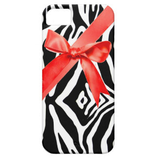 Red Zebra bow Iphone Case iPhone 5 Cover