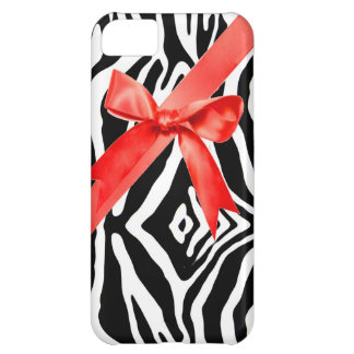 Red Zebra bow Iphone Case iPhone 5C Cover