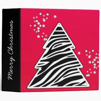 Red Zebra Christmas Tree Binder