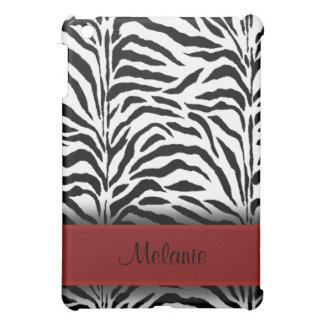 Red Zebra Designer Black White  iPad Mini Cover