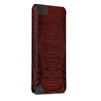 Red Zebra Glitter Abstract iPod Touch (5th Generation) Cases