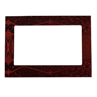 Red Zebra Glitter Abstract Magnetic Picture Frame