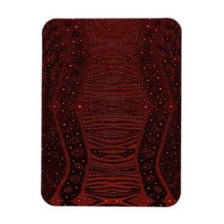 Red Zebra Glitter Abstract Rectangular Photo Magnet