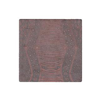 Red Zebra Glitter Abstract Stone Magnet