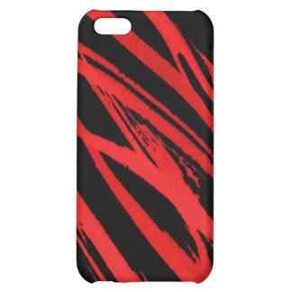 red zebra iPhone 5C cases