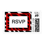 Red Zebra Party RSVP Stamps