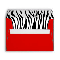 Red Zebra Print A7 Greeting Card Envelopes