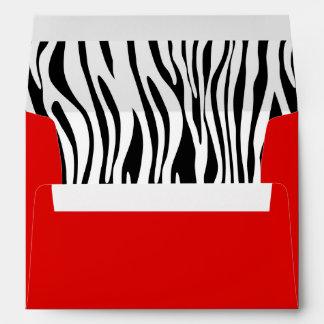 Red Zebra Print A7 Greeting Card Envelopes