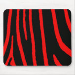 Red Zebra Print Mouse Mats