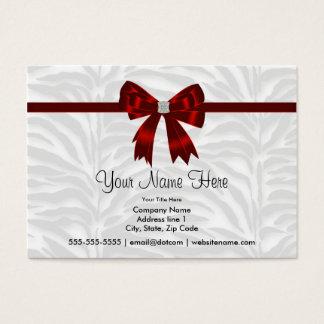 Red Zebra Red Bow Zebra Business Cards