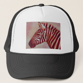 Red Zebra Rising Trucker Hat