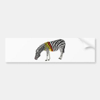 Red Zebra Series Bumper Sticker