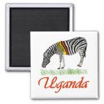 Red Zebra Series Fridge Magnet