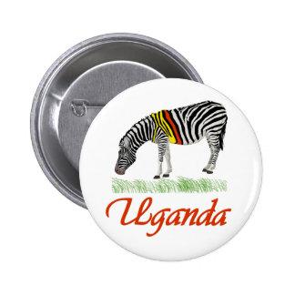 Red Zebra Series Pinback Button