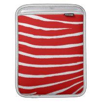 Red Zebra Stripes-Pattern iPad Sleeve