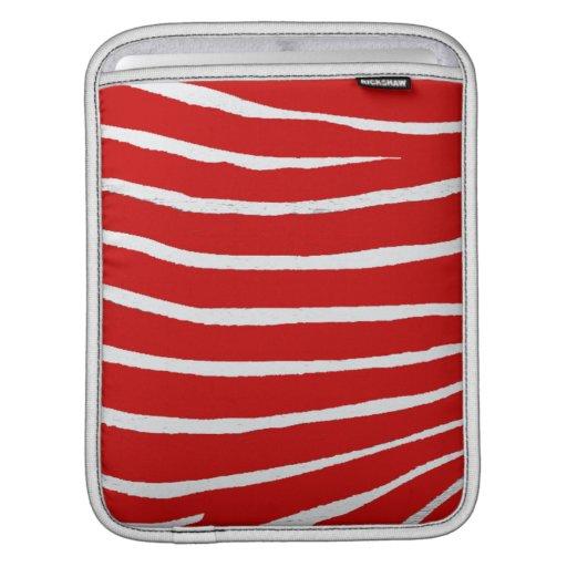 Red Zebra Stripes-Pattern iPad Sleeves