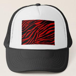 red zebra trucker hat