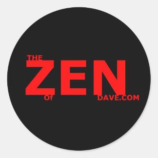 Red Zen 3 Inch Sticker