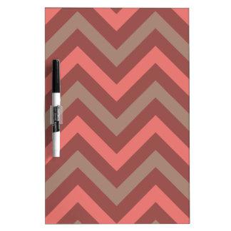 Red Zig Zag Pattern Dry Erase Whiteboards