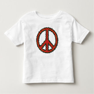 Red Zig Zag Peace Sign Tshirt