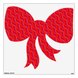 Red zigzag design Bow Wall Decal