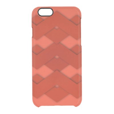 Red Zigzag Design Uncommon Clearly™ Deflector iPhone 6 Case