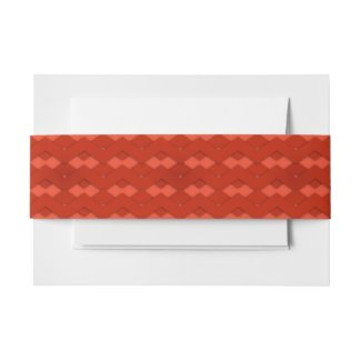 Red Zigzag Invitation Belly Band